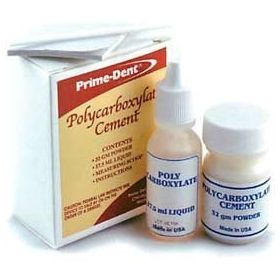Prime Dent Polycarboxylate Cement Kit 32g/17.5ml USA Made