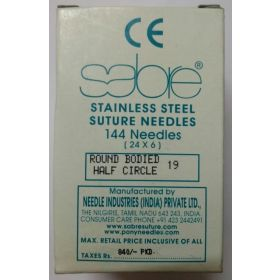Generic Stainless Steel Suture Needle No 19