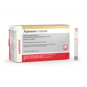 Septodont Septanest 1:100,000 Anesthetic Agent